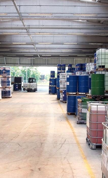 Almacenamiento de productos químicos en Valencia